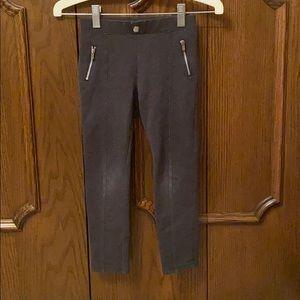 H&M charcoal knit pants girls size 5-6